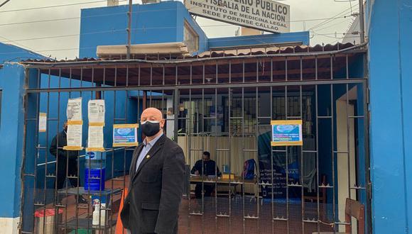 José Cueto llegó a la morgue del Callao. (Foto: Twitter de José Cueto)