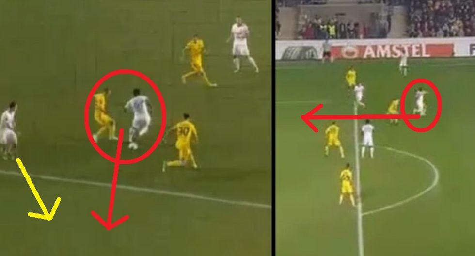 Jefferson Farfán dio este genial pase gol de taco con Lokomotiv por la Europa League [VIDEO]