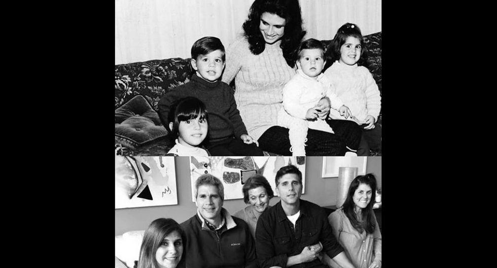 Christian Meier junto a su familia