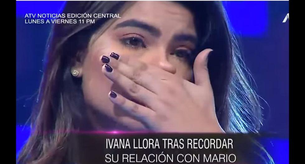 Ivana Yturbe llora por Mario Irivarren