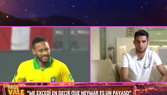 Carlos Zambrano volvió a tocar el tema Neymar en programa de Mathías Brivio