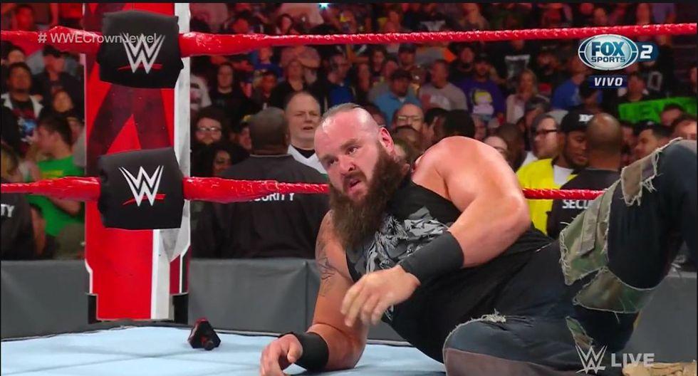 Lesnar y Strowman tendrán una colisión este viernes en Arabia Saudita. (WWE)