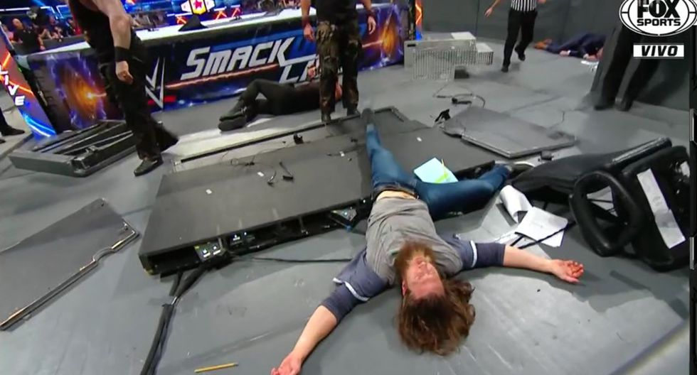 Rowan dejó en claro que terminó su sociedad con el nuevo Daniel Bryan. (Captura Fox Sports 3)
