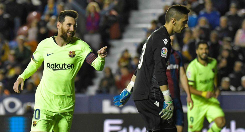 Barcelona humilló 5-0 a Levante con Triplete de GOLAZOS de Lionel Messi por la Liga Santander