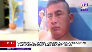 Los Olivos: Cae 'Diablo', sujeto que captaba a menores de entre 13 y 17 años para ofrecerlas a pervertidos