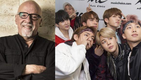 ¿Por qué Paulo Coelho está defendiendo a BTS de sus haters? (Foto: Montaje)