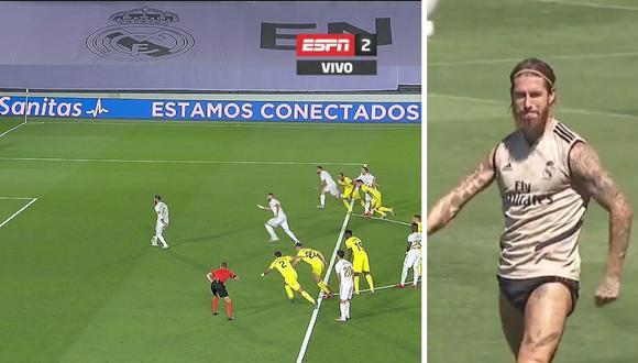 Golazo de Sergio Ramos en entrenamiento de Real Madrid