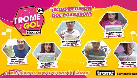 Esto son los ganadores del Trome Gol. (Trome.pe)