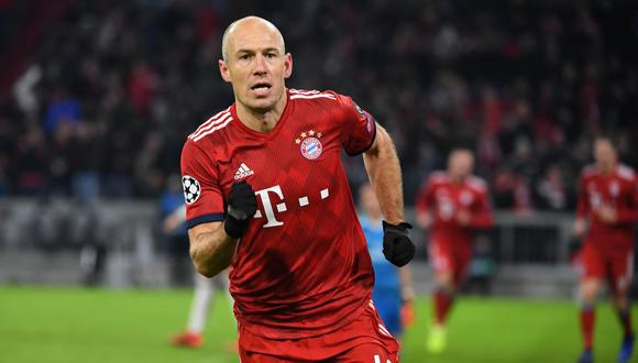 Arjen Robben se retiró del fútbol el año 2019 jugando por el Bayern Munich. (AFP)