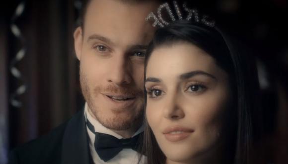 """La química de Kerem Bürsin y Hande Erçel en """"Love Is in the Air"""" traspasó las pantallas y hoy gozan de una sólida relación (Foto: MF Yapım)"""