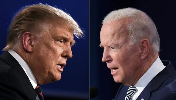 Donald Trump y Joe Biden debaten en Cleveland, Ohio. (Fotos: JIM WATSON y SAUL LOEB / AFP).
