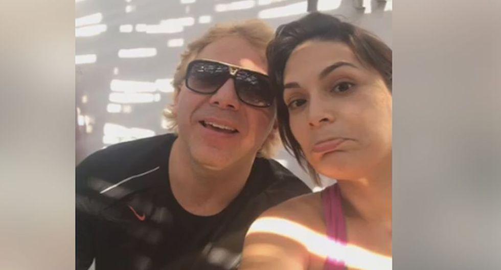 Cristian Castro y Evelyn Vela