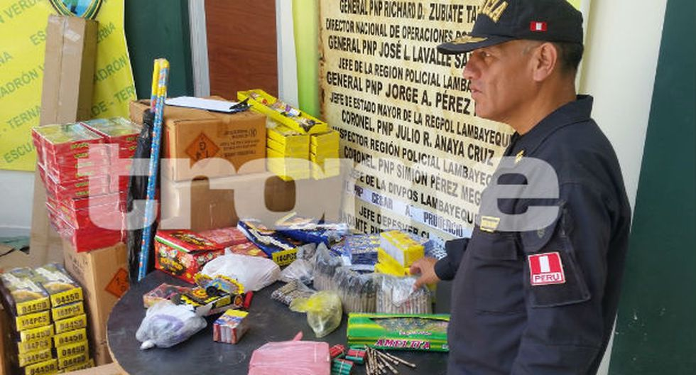 Pirotécnicos estaban ocultos en unas viviendas cerca del Mercado Modelo de Chiclayo. (Foto: Trome)