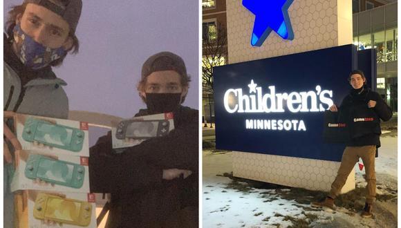 Las donaciones que hizo Hunter Kahn al Children's Minnesota Hospital están valoradas en más de US$ 2.000. (Foto: Hunter Kahn | Instagram)