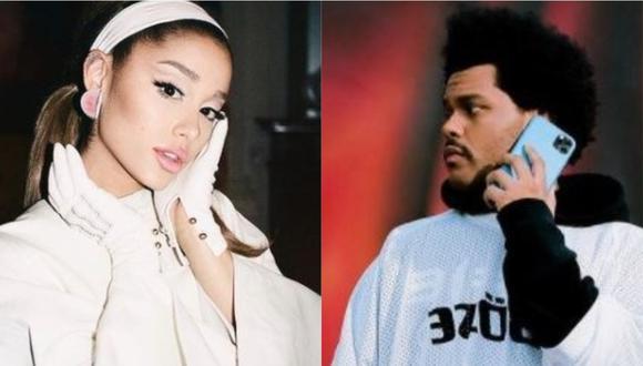 The Weeknd confirma una nueva colaboración con Ariana Grande. (Foto: arianagrande/theweeknd)