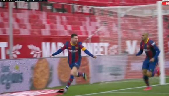 Lionel Messi llegó a los 19 goles en LaLiga tras tanto frente a Sevilla