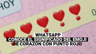 WhatsApp: Conoce cuál es el significado del emoji del corazón con punto rojo