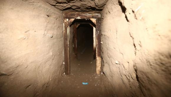 Túnel cerca del penal Miguel Castro Castro donde pretendían fugar varios presos. (GEC)
