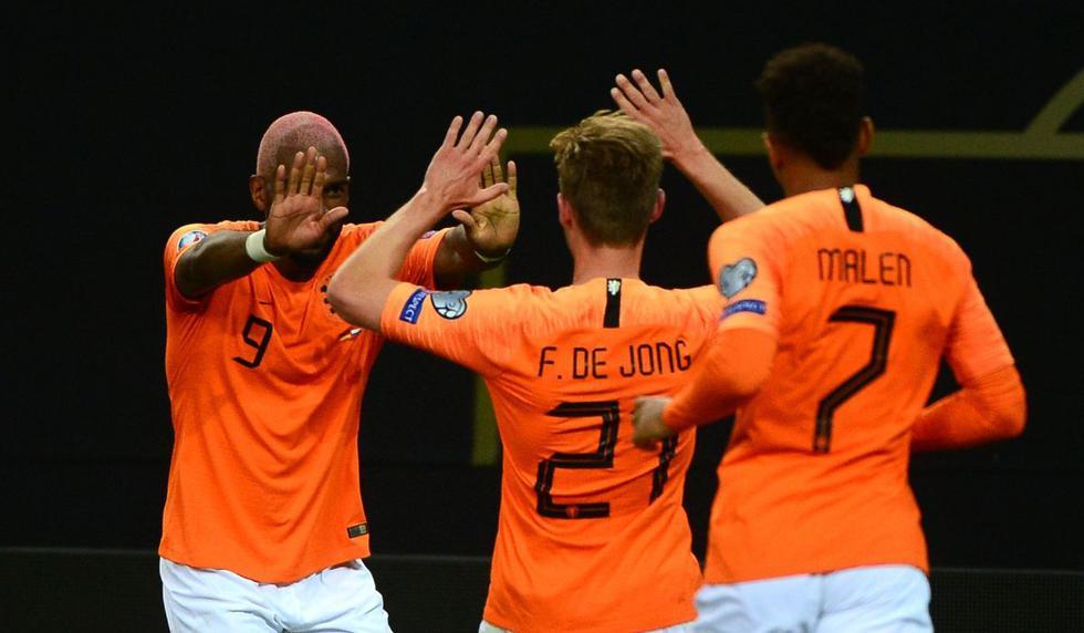 Holanda venció 4-2 a Alemania con goles de Wijnaldum y De Jong y sigue con vida en Eliminatorias Eurocopa 2020