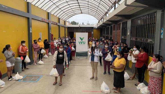La Libertad: 600 familias de las comunidades más necesitadas de Virú recibieron víveres y ropa