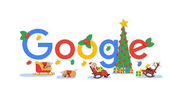 Google presentó una serie de tres doodles para contar la aventura de Papá Noel durante la Navidad de este año para desear: Felices fiestas 2018.