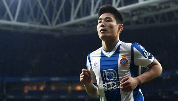 Wu Lei, atacante chino del Espanyol de Barcelona, da positivo por coronavirus . (Foto: Twitter)