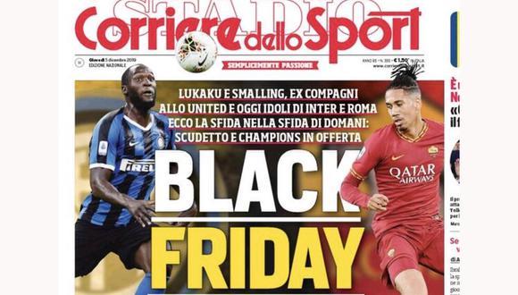 Esta es la polémica portada del Corriere dello Sport que ha sido acusada de racismo.