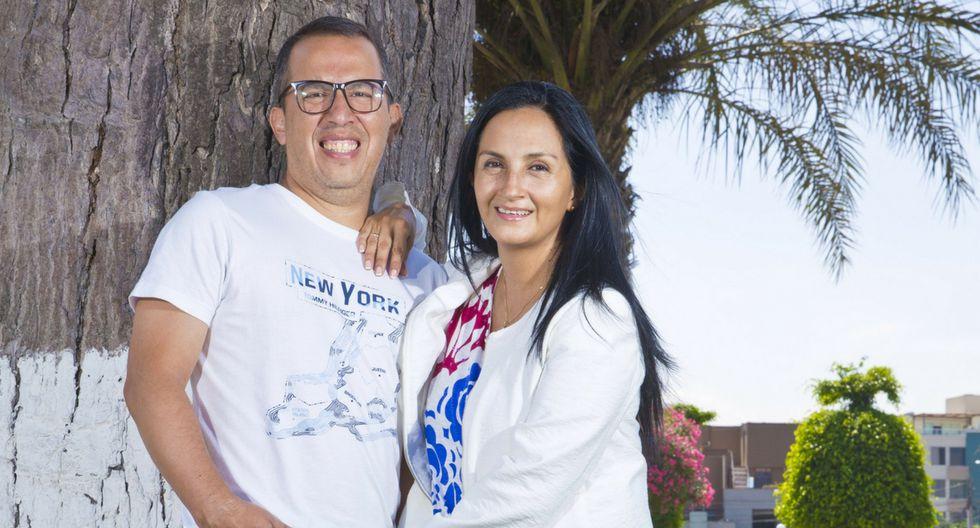 La viuda de Daniel Peredo, Milagros Llamosa, dio una donación a los internos de San Pedro.