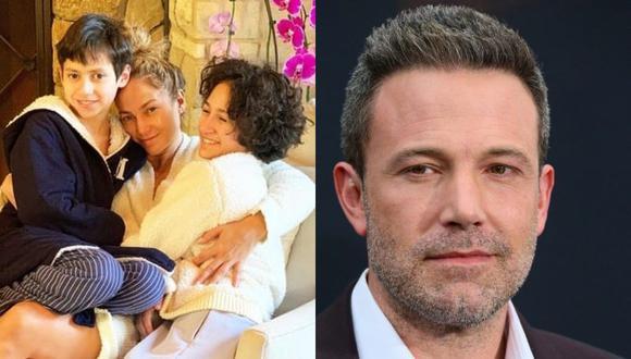 Max y Emme están conociendo poco a poco a Ben Affleck, quien está cada vez más cerca a Jennifer Lopez. (Foto: @jlo Instagram / AFP / Composición)