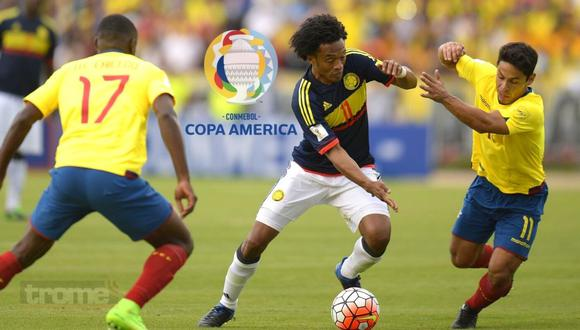 Colombia vs Ecuador, partido por grupo b de Copa América 2021 (Foto: AFP)