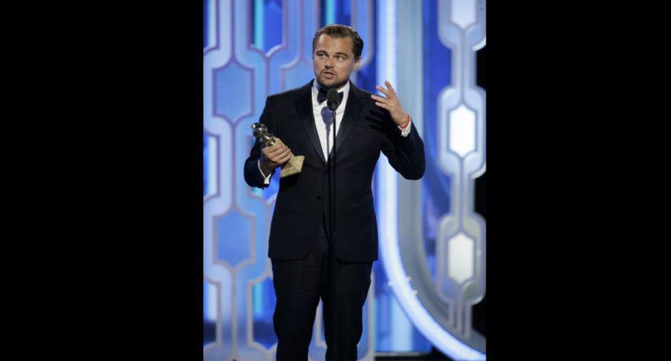 Leonardo DiCaprio ganó como 'Mejor actor principal de drama' en los Globos de Oro y pidió que se defendiera a las comunidades indígenas en Estados Unidos. (Foto: Agencias)