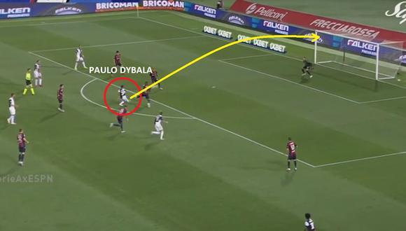 Golazo de Paulo Dybala en Juventus vs Bologna