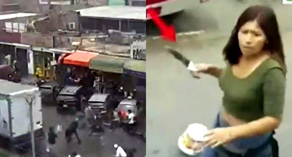Enfrentamiento entre ambulantes de fiscalizadores de Surco deja 6 heridos (Trome)