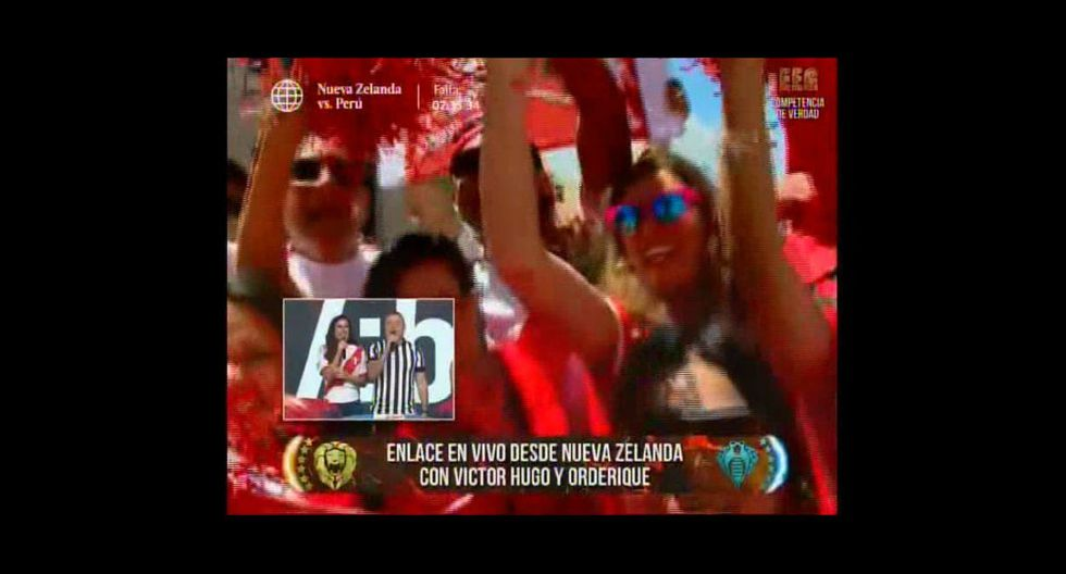 Los hinchas de la selección peruana alborotaron Wellington. (América TV)