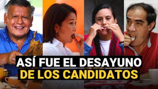 Elecciones 2021: Así fue el desayuno electoral de los candidatos a la presidencia