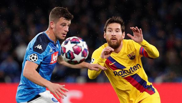 Barcelona y Napoli buscan los boletos de cuartos de final de Champions League