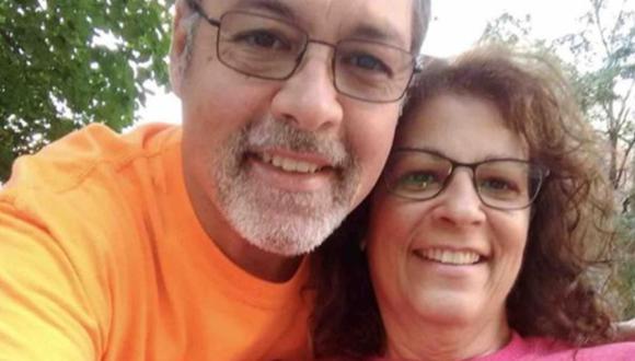 Marie Trainer y su esposo. (Foto: GoFundMe)