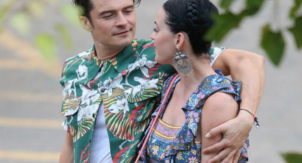 El actor Orlando Bloom y la cantante Katy Perry.