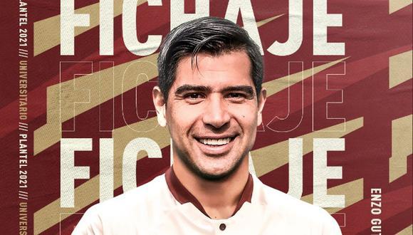 Enzo Gutiérrez fue anunciado como nuevo jugador de Universitario. (Captura: Universitario)