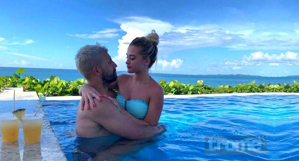 Kun pasa las vacaciones junto a su novia la modelo argentina Sofía Calzetti