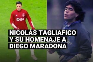 Nicolás Tagliafico y su homenaje a Diego Maradona