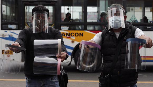 Sepa cómo deben ser los protectores faciales (Foto referencial).