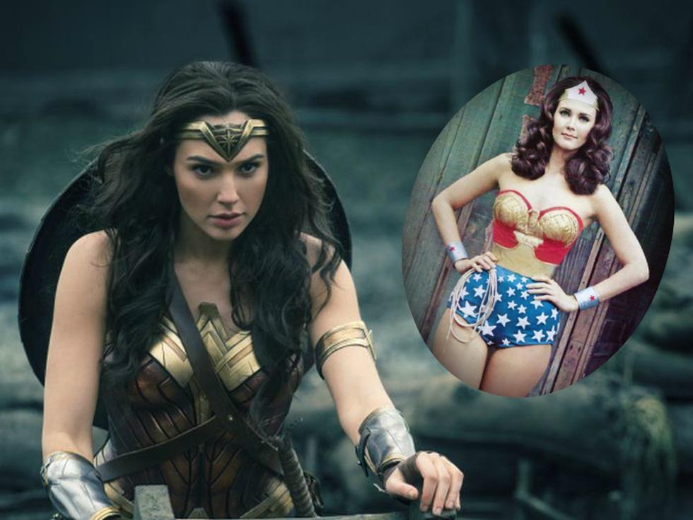 Gal Gadot y Linda Carter como Wonder Woman.