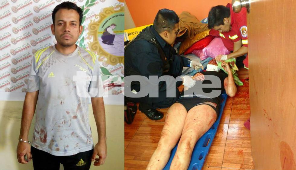 Mujer se encuentra grave, mientras que venezolano la acusó de infiel y que lo quería abandonar para irse con el 'rey de las empanadas'. (Fotos: Trome)
