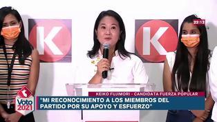 "Keiko Fujimori a De Soto: ""No importa quién pase a segunda vuelta, espero que podamos trabajar juntos"""