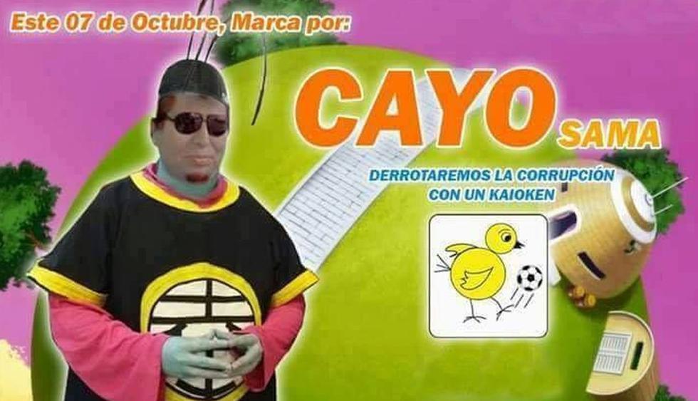 Antonio Cayo se comparó con 'Kaiosama' para publicitar su campaña. (Fotos: Facebook)