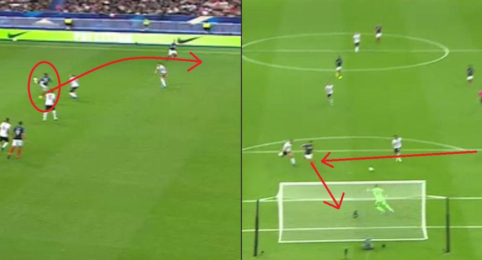 Golazo de Giroud tras mágico pase de media vuelta de Griezmann en el Francia vs Albania
