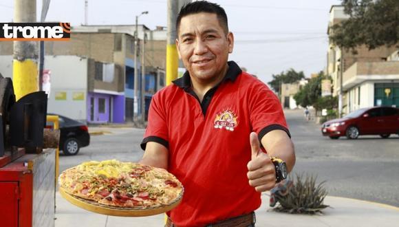 Eder Martínez (43) estaba sin empleo cuando  se le ocurrió invertir sus ahorros en una pizzería.