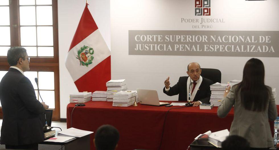 Giulliana Loza fue reprendida por el juez por un comentario que hizo sobre el fiscal Pérez. (Foto: GEC)