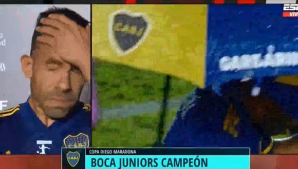 Carlos Tévez se quebró tras conseguir título con Boca Juniors. (ESPN)